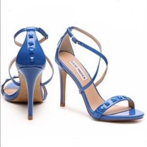 STEVE MADDEN blue strappy sandal heels size 6.5